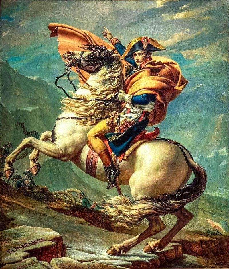 """Жак Луи Давид """"Наполеон на перевале Сен-Бернар"""", 1801 г."""