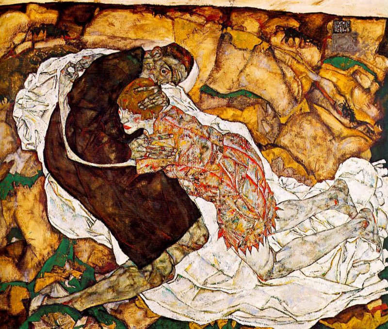 """Эгон Шиле """"Смерть и Девушка"""", 1915 г."""