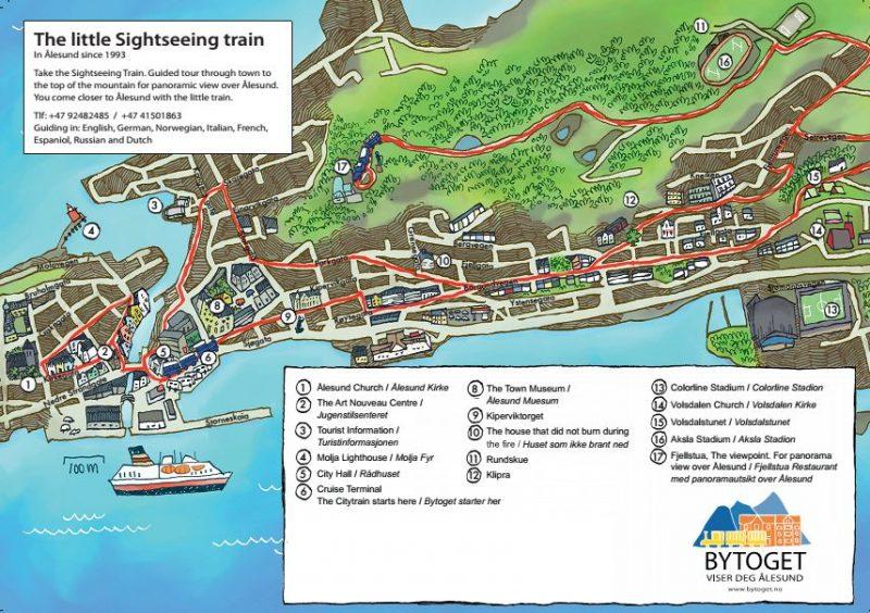 Маршрут Ålesund City Train Sightseeing