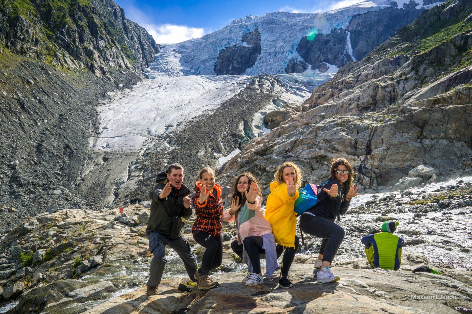 Забрались к леднику Buer