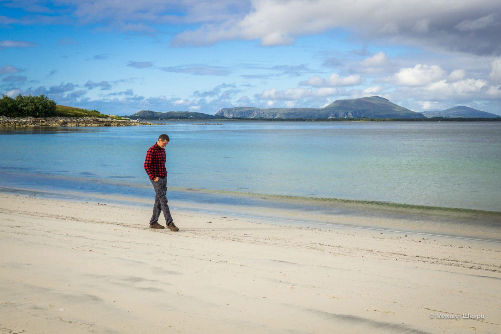 В Норвегии есть белоснежные пляжи