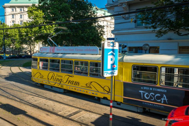 Экскурсионный трамвай Ring Tram по Рингу в Вене