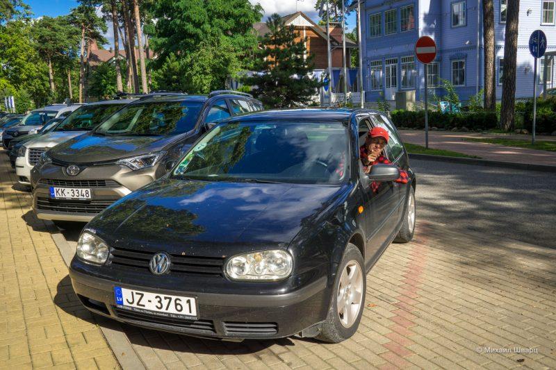 Наш старенький VW Golf