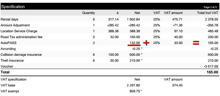 Счет на оплату в Hertz