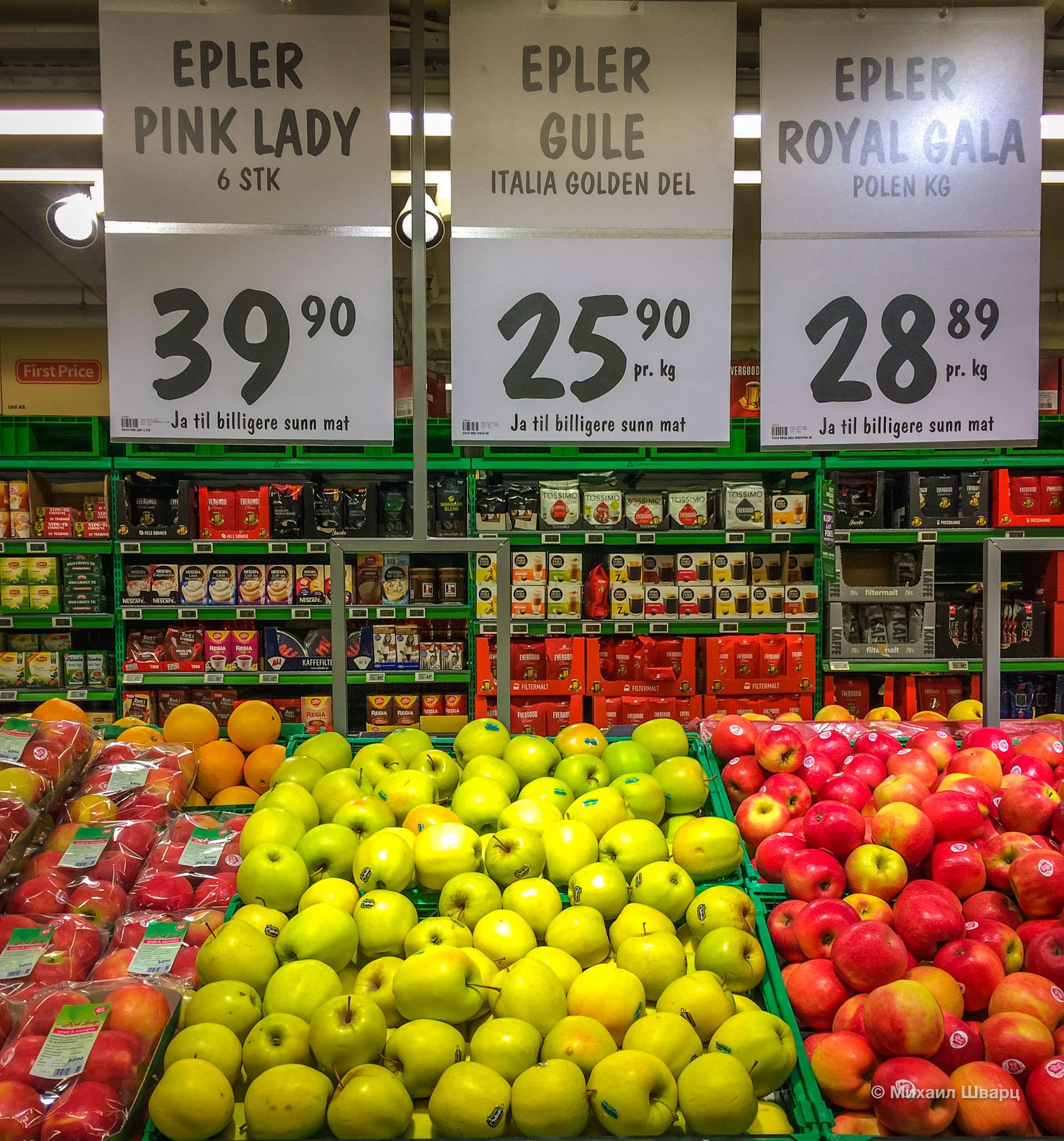 Адские цены на продукты в Норвегии!