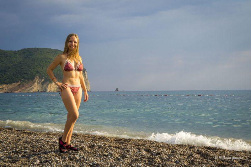 Лена на пляже Булярица