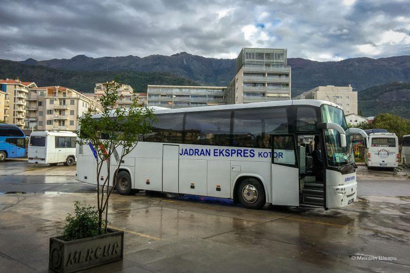 Автобус из Будвы в Дубровник