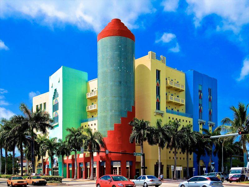 Здания в районе Art Deco