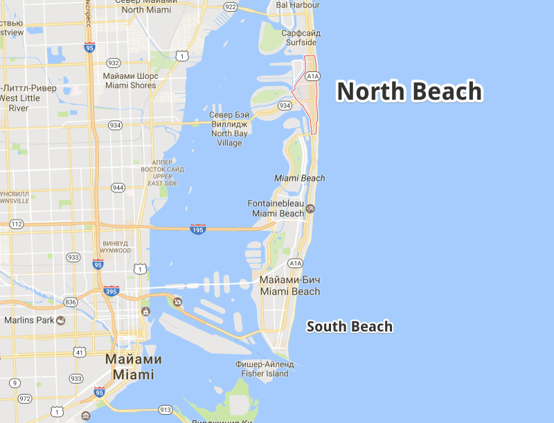 Карта North Beach