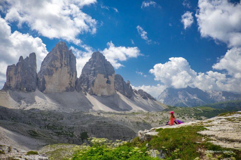 Горы Tre Cime di Lavaredo в Доломитах 1