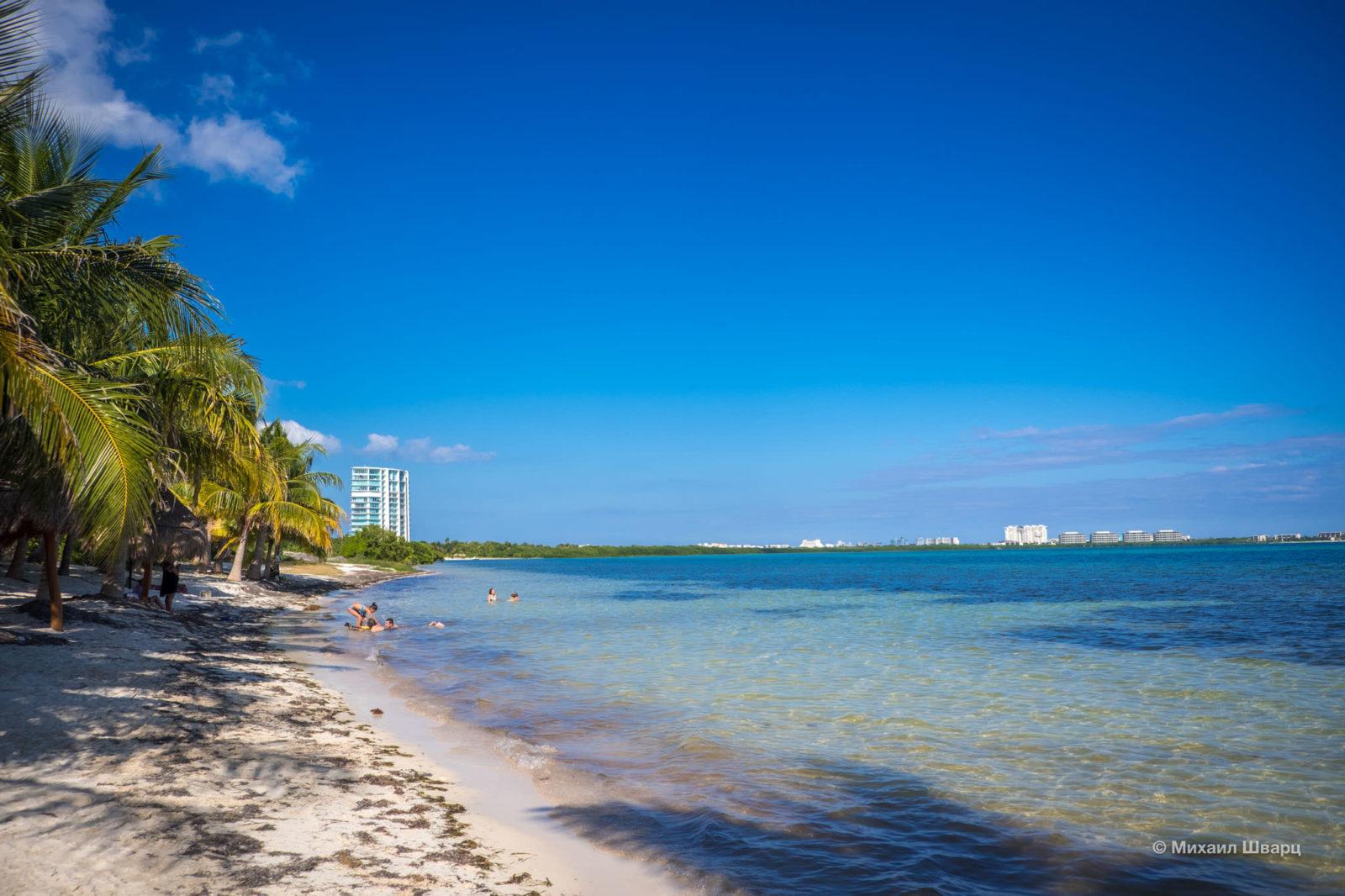 Скромный пляж
