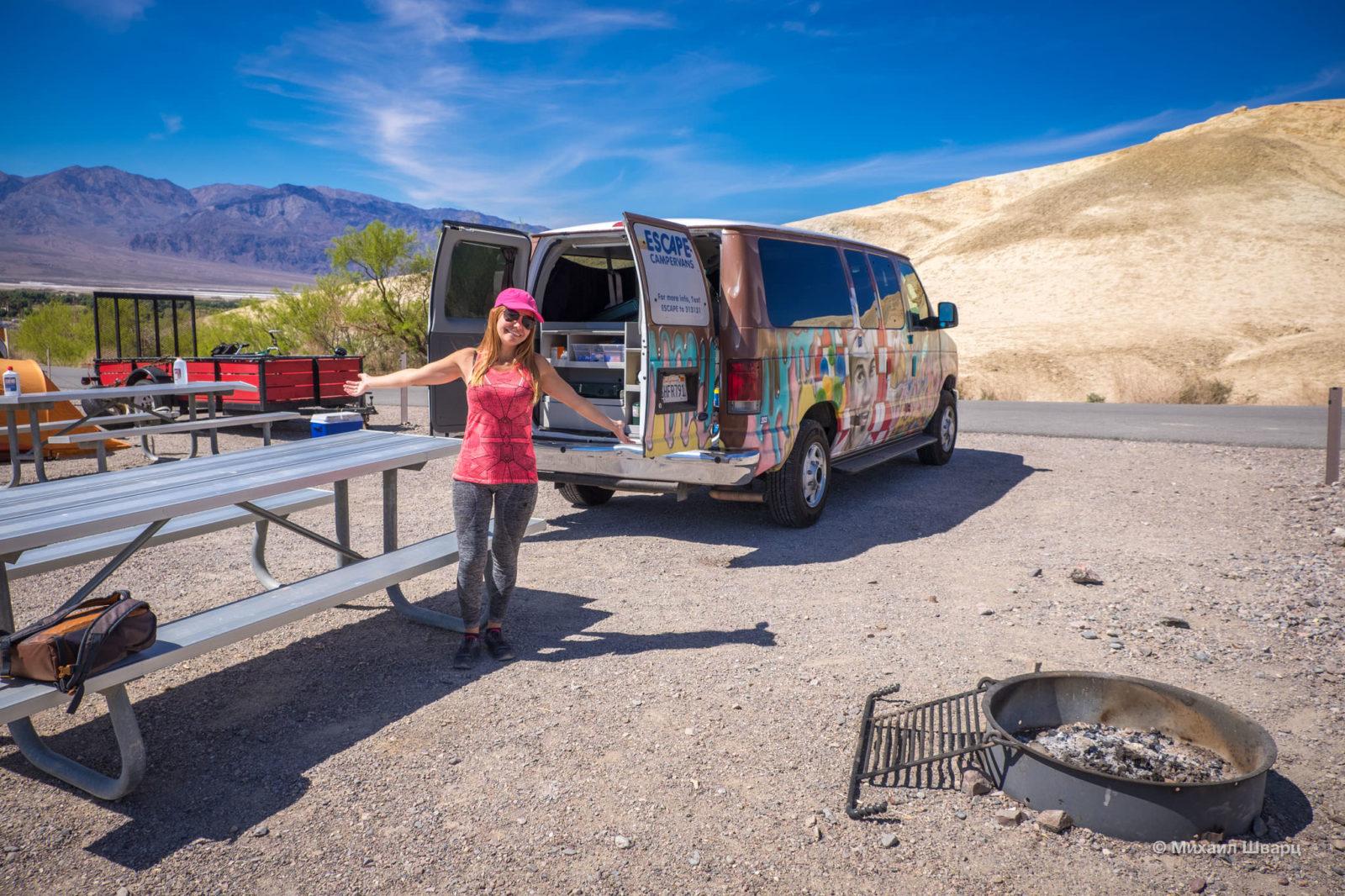 Texas Spring Campground в Death Valley