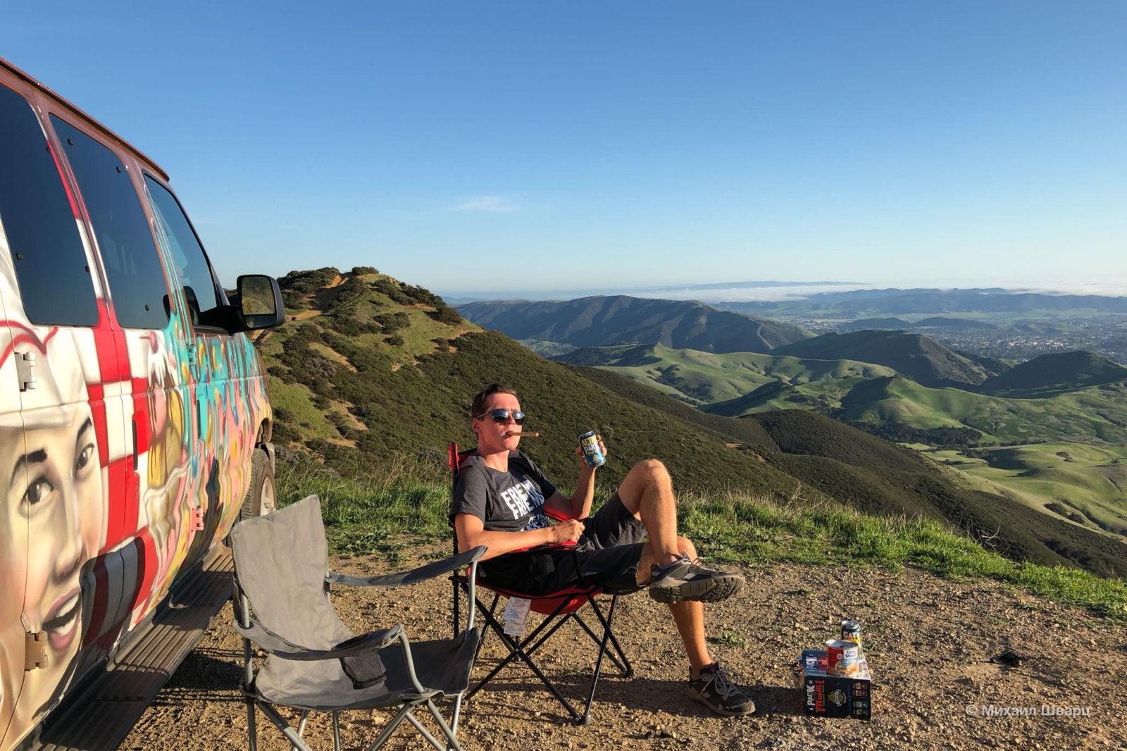 В горах с видом на океан вLos Padres National Forest