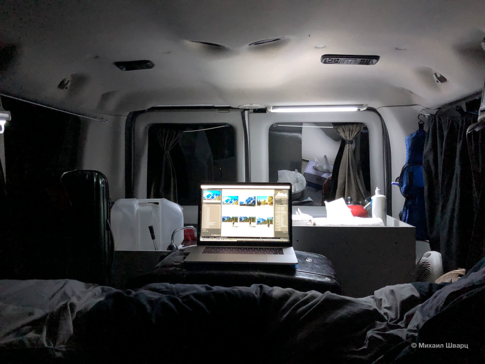 Ночной вариант с кроватью