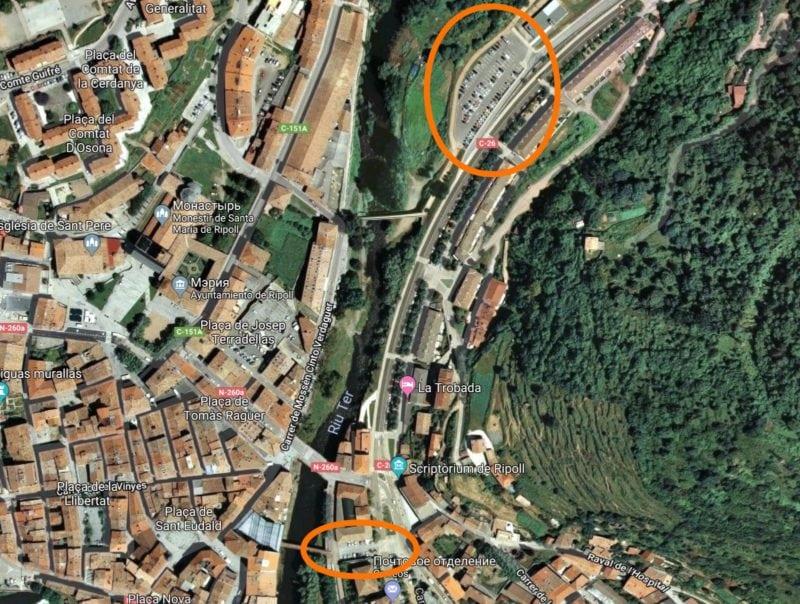 Ищу парковки на спутниковых снимках