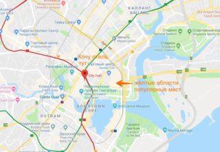 Как искать отели вокруг определенной станции метро?