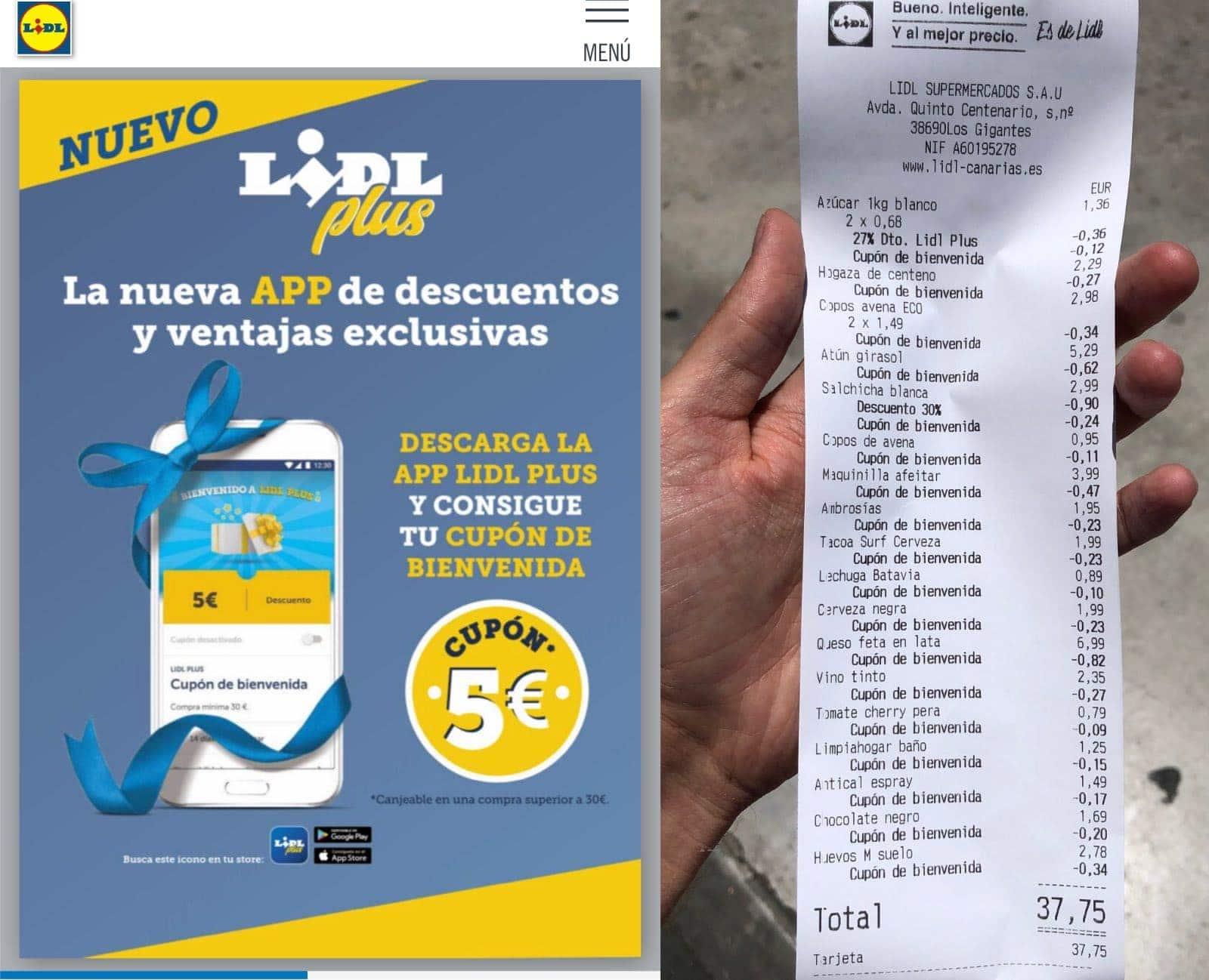 Купон €5 в испанском Lidl