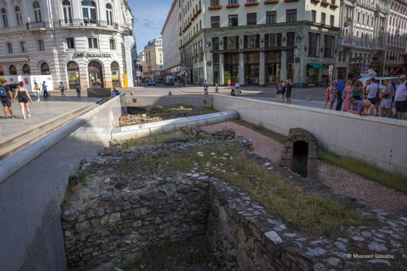 Древнеримские руины на Михаэлерплац