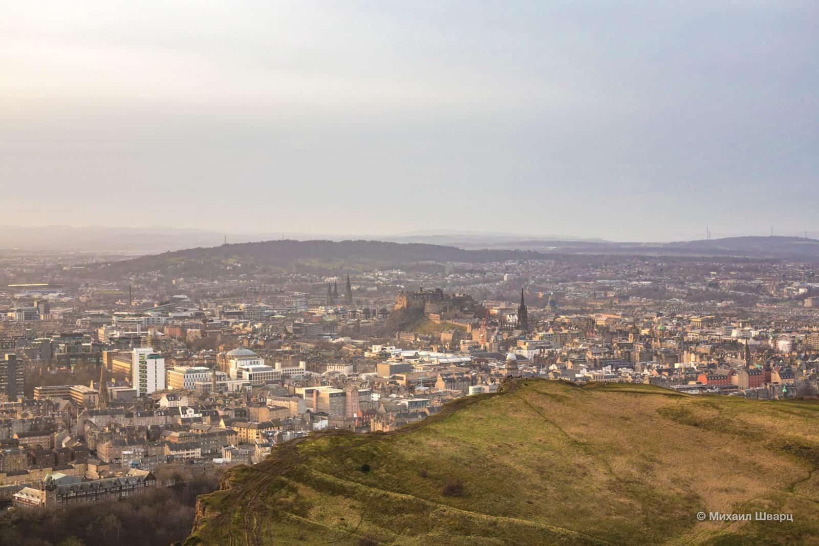 Эдинбургский замок в центре города
