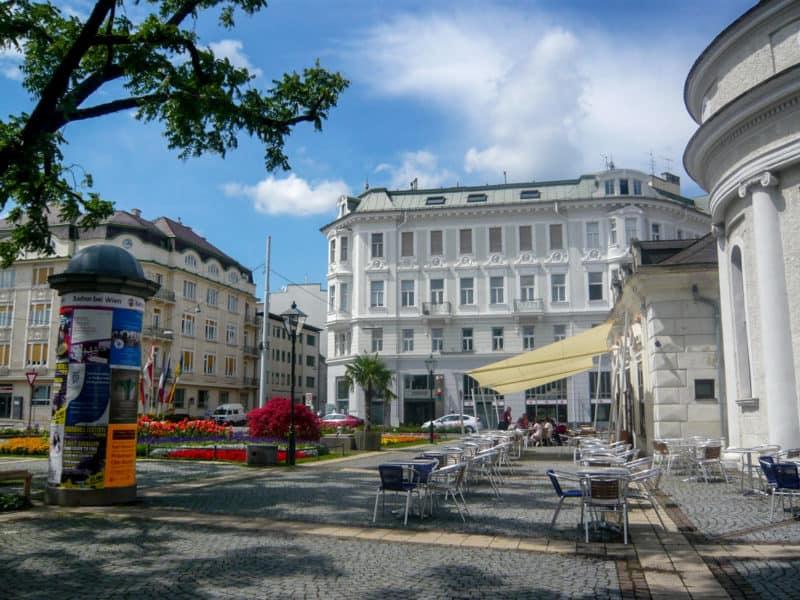 Площадь Йозефа в городе Баден под Веной