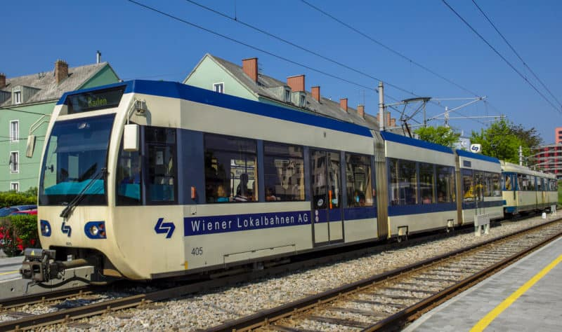 Трамвай в Баден