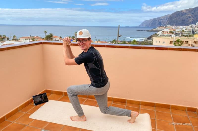 Тренируюсь на балконе