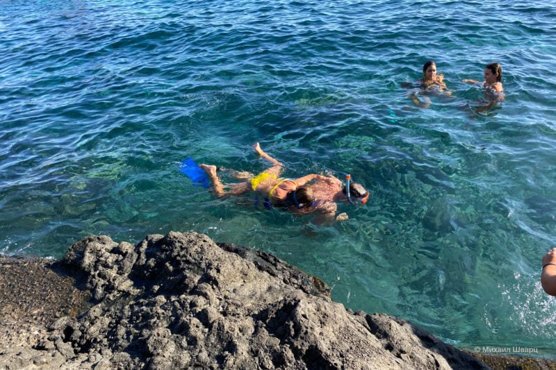 Плаваем на рифе рядом с дома