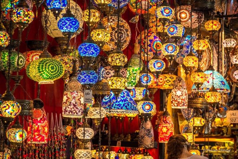 Лампы и светильники из мозаичного стекла
