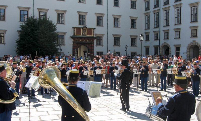 Выступление оркестра Original Hoch und Deutschmeister