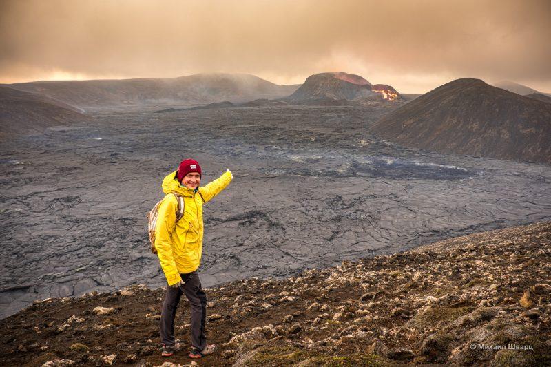 Первые фоточки с вулканом Fagradalsfjall